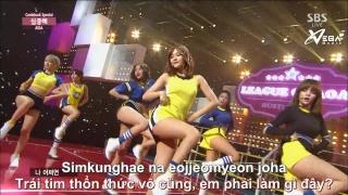 Chocolate + Heart Attack (Inkigayo 28.06.15) (Vietsub) - AOA