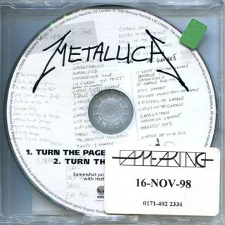 Turn The Page - UK Vertigo Promo CD - Metallica