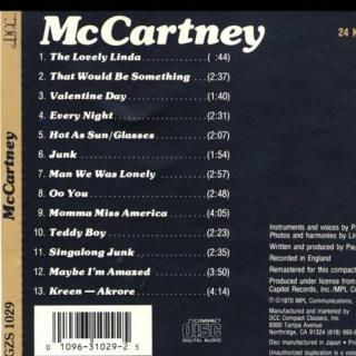 McCartney CD2 - Paul McCartney