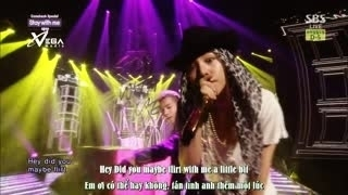 Stay With Me - Eyes, Nose, Lips (Inkigayo 08.06.14) (Vietsub) - Tae Yang, G-Dragon
